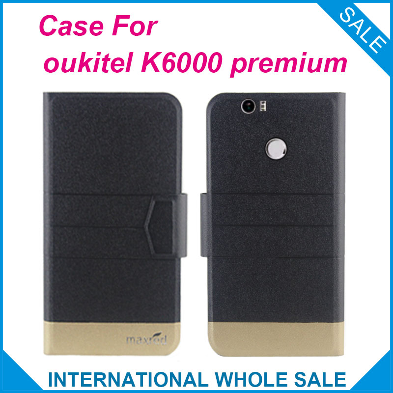 Horký! 2016 oukitel K6000 premium case Nové příchod 5 barev tovární cena Flip Leather Exkluzivní pouzdro pro oukitel K6000 premium