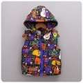 New Winter Baby Girl Vest Thick With Fleece Kids Waistcoat Snowman Print Warm Children Cartoon Vest Girl Christmas Costume