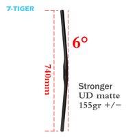 7 TIGER MTB straight handlebar flat handle bar full carbon bicycle handlebar 740mm handlebar,carbon straight handlebar