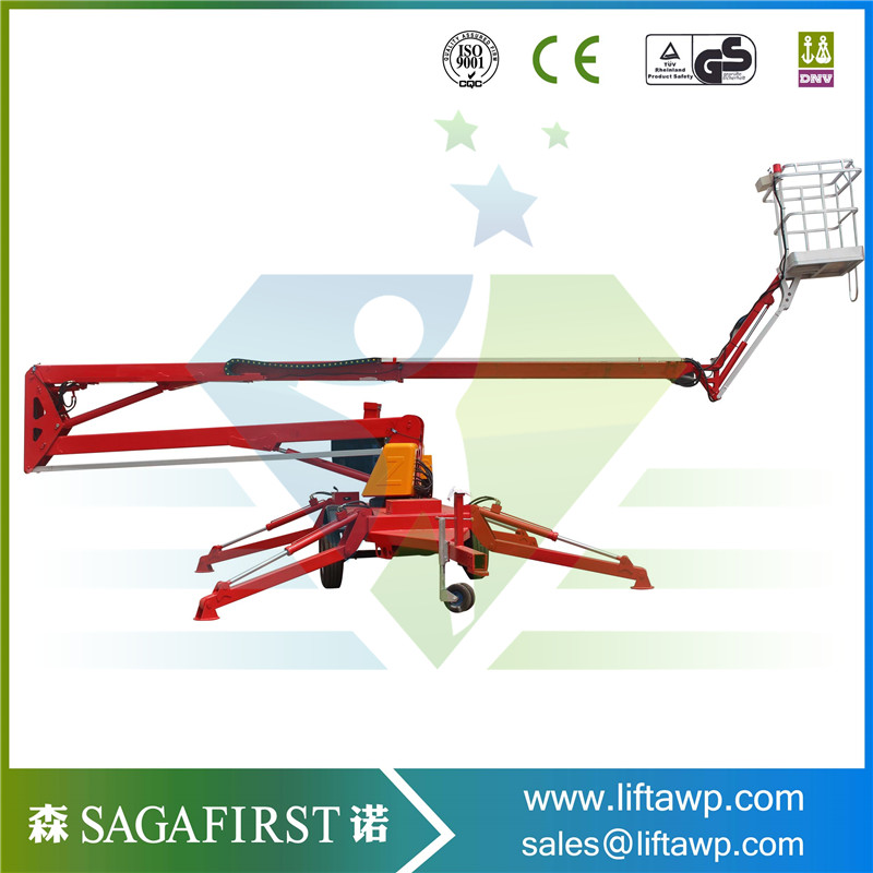 Towable Boom Lift For Sale / Arm Ift Platform/ Cherry Picker