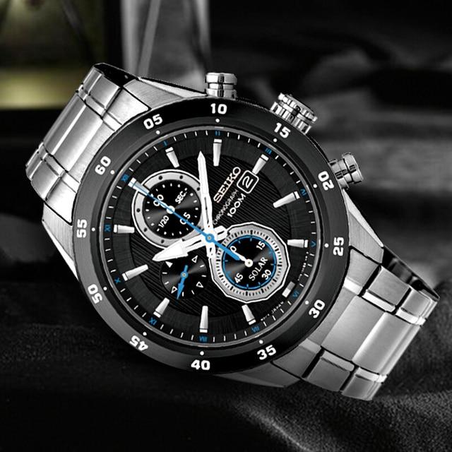 100% Original SEIKO Solar Uhr Mode Trend Business Timing Quarz herren Uhr SSC531J1
