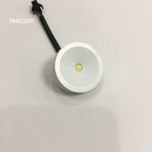 4pcs/lot  LED Mini Cabinet Downlight 1W diameter 37mm dc12v silver Frame Recessed Ceiling No Flicker Spot Lights For Home