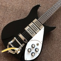 High Quality Three Pickup Ricken Black Electric Guitar Real Photos Free Shipping Promotional Activities