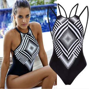 b20f3a3751 Women Ladies One Piece Swimsuit Push Up Padded Bikini Bathing Monokini