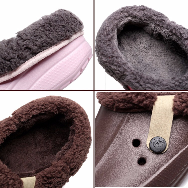 Women's Winter Clogs Men's Garden Shoes EVA Waterproof Outdoor Slippers Clogs For Men Women Clog Man Candy Color Warm 36-44 (2)
