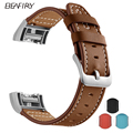 Ремешок из мягкой натуральной кожи BEAFIRY  классический ремешок для часов Fitbit Charge 2 с металлической рамкой  идеально подходит для Fitbit Charge2