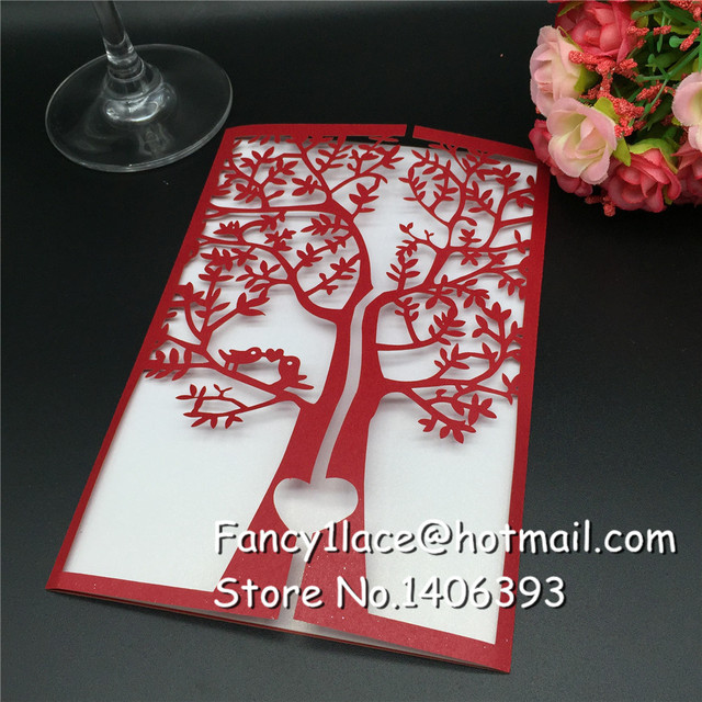 Creative 30pcs Lot Customized Invitations Valentine S Wedding Party