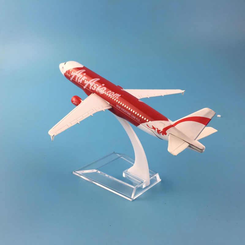 Азиатский авиационный самолет A320 модель самолета 16 см сплав для детей игрушки