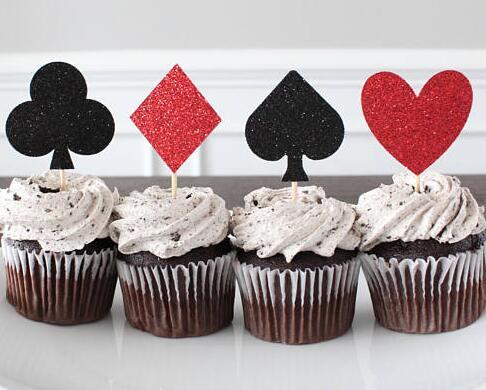casino night cake toppers