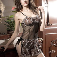 Hot Women Embroidery Sexy Lingerie Print Transparent Nuisette Fishnet Erotic Sex Dress Ladies Erotic Lingerie Porn Babydoll