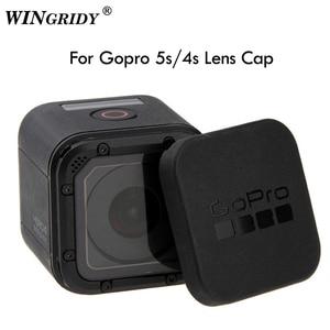 Image 1 - Capa de lente para gopro hero 5/4/6/7 4S, proteção traseira de lente com logotipo do gopro para go pro hero 4/5
