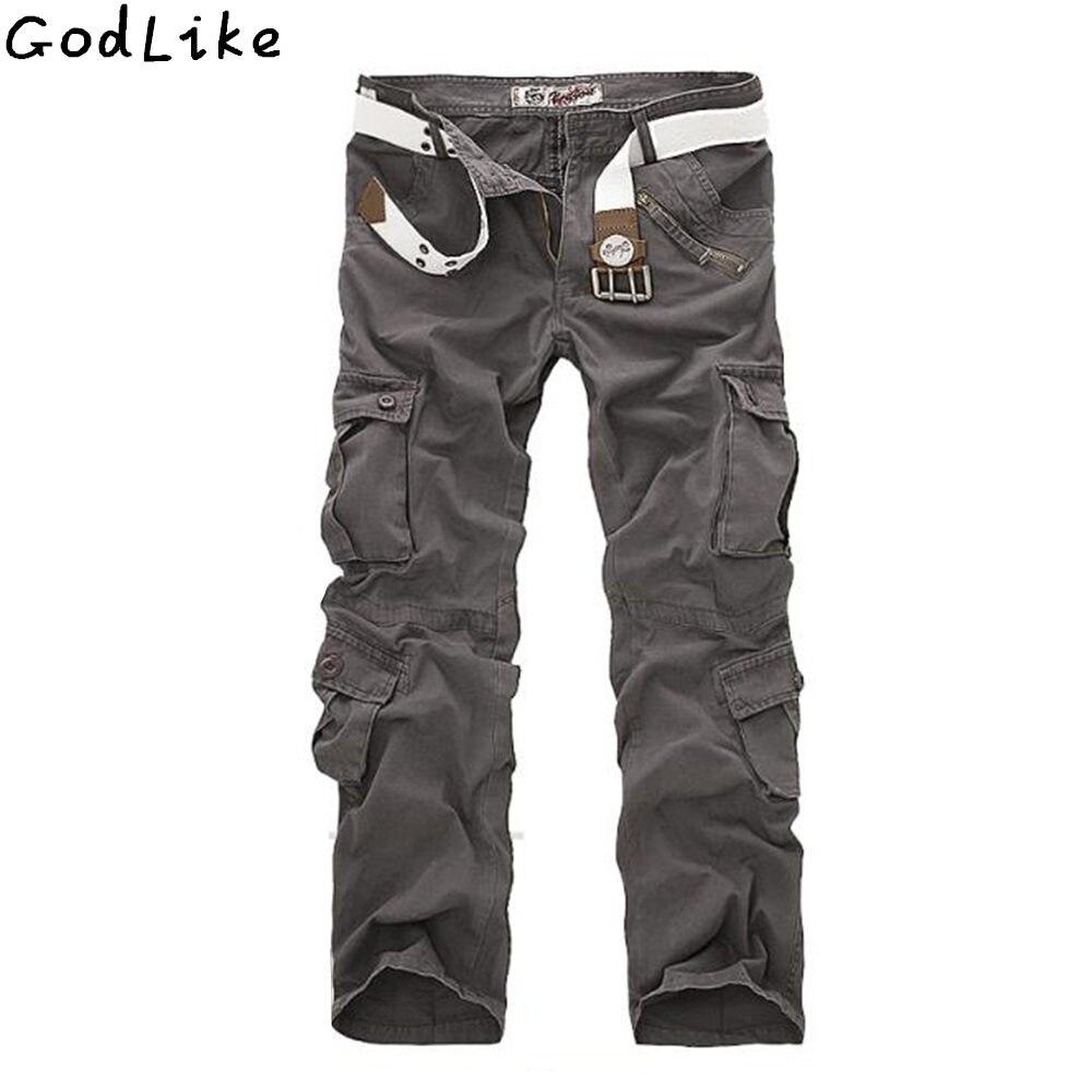 2018 Mâle de Camouflage pantalon Hommes Cargo Casual Pantalons Hommes Pantalon Multi Poche Militaire Globale pour Hommes Extérieur Pantalons Longs