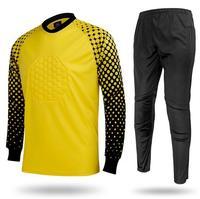 2016 Hot Sale Long Sleeve Goalkeeper Shirts Pants Uniforms Breathable Boys Soccer Kids Goalkeeper Sport Training