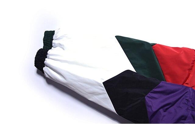 Vintage Color Block Patchwork Pullover Jackets 6