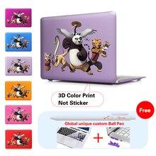 PO Kung Fu Dream Laborious Print Cowl Case Skinfor Macbook Air 11 13.three 13 15 Inch Macbook Professional Retina Keyboard Cowl+Display Protector