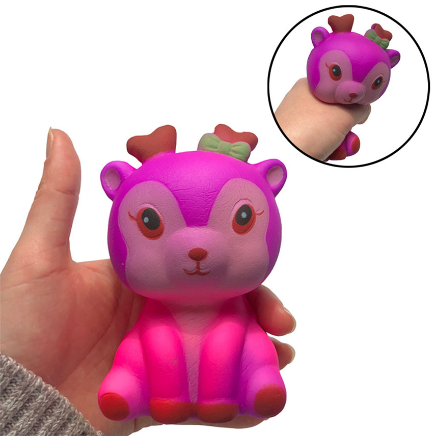 Toys & Hobbies Stress Relief Toy 2018 New 11.5cm Galaxy Deer Cream Scented Slow Rising Squeeze Strap Kids Toy Gift Dropshipping Wholesaling Retailing P5