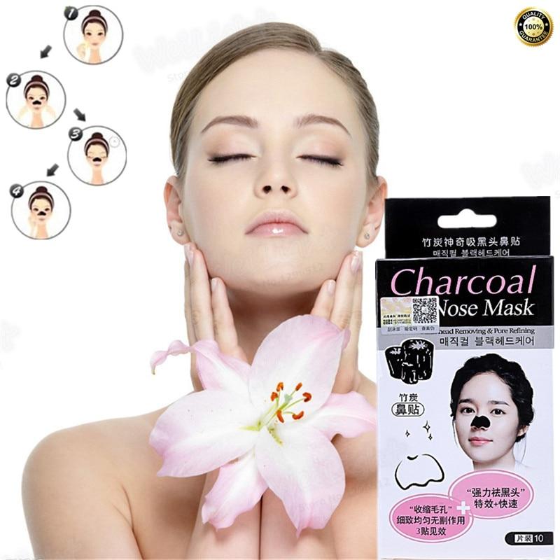 Black mask for Blackhead Treatment Mask Whitening Face Skin Care Anti Winkles Ageless Remover Black Head 10Pcs/lot On sale