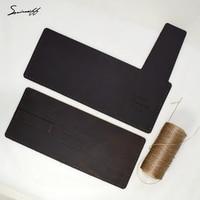 DIY Gift Wallet Material For Man Vintage Genuine Leather Purse Wallet Custom Name Present Purse Handmade