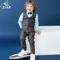 I.K Boys Wedding Party Vest Suits 2017 Spring Autumn Children Sets Cotton High Quality Gentleman Kid Clothes Bbay Costume AS1007