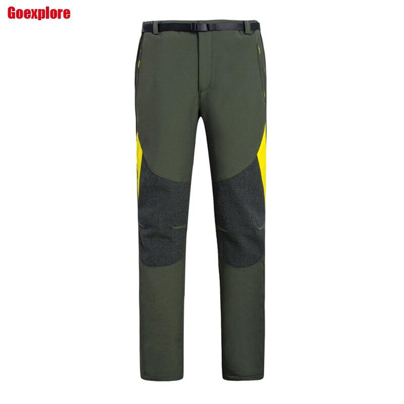 Dropshiiping NEW brand Outdoor sport running polar fleece pants windproof thermal thicken winter male fleece trousers men