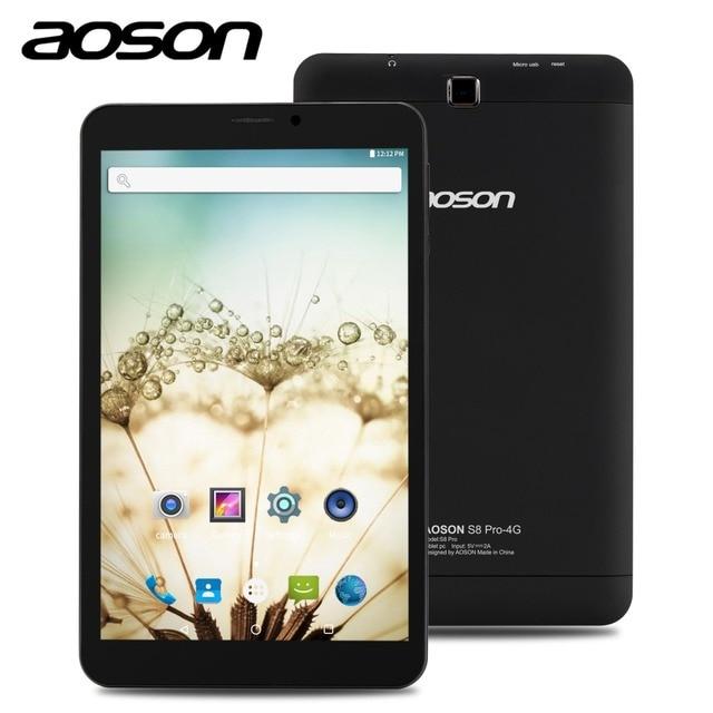 Новинка! AOSON S8 Pro 8 дюймов сим-карты 4 г телефонный звонок Планшеты PC GPS Android 6.0 MTK8735B quad-core IPS 800*1280 1 ГБ + 16 ГБ Встроенная память мобильного