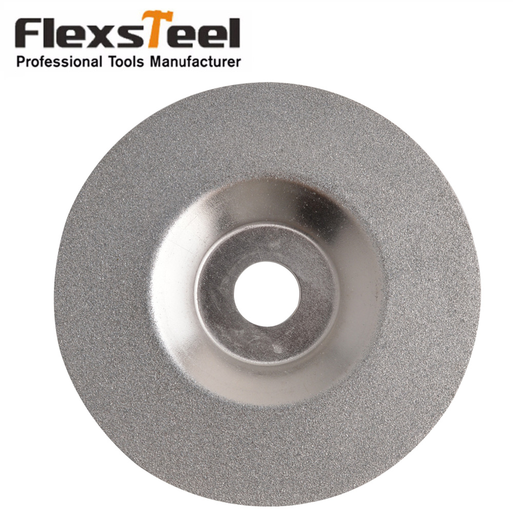 High Quality 100mm Dia Round Glass Disco Da Taglio Diamantato Grinding Cutting Disc Sliver Tone Diamond Coated