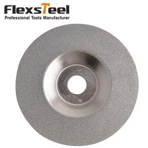 High Quality 100mm Dia Round Glass Disco da taglio diamantato Grinding Cutting Disc Sliver Tone Diamond coated(China)