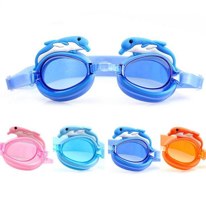 Children swimming goggles UV protection anti-fog swim glasses cartoon dolphin Swim eyewear - Hot sales Market store