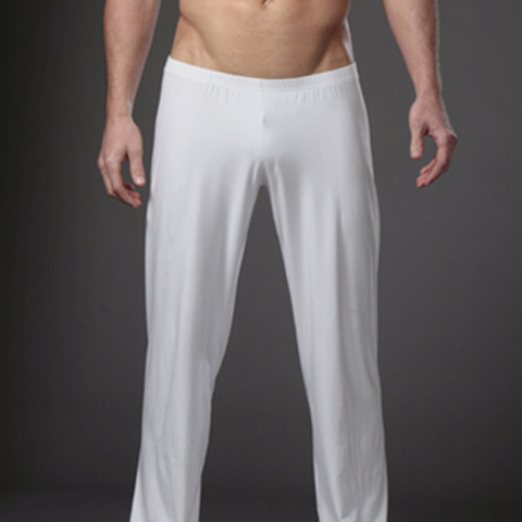 White Sweatpants Men's Pure Slacks Ultra-thin Straight Tube Summer Dry