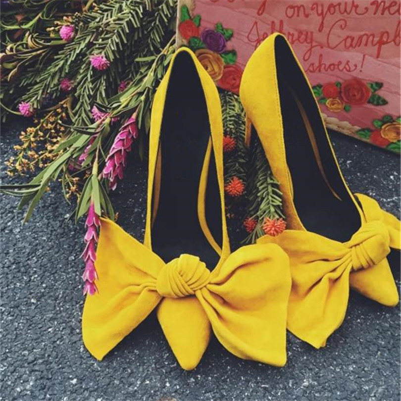 2017 Apring Autumn New Fashion Big Size Shoes Sweet Woman Chaussures Femmes Escarpins Flock Slip On Butterfly Knot Women Pumps new flock high big size 11 12 women shoes wedges pointed toe woman ladies butterfly knot casual spring autumn sweet single shoes