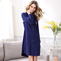 Marca algodão nightgowns sleepshirts camisolas elegantes para mulheres salão plus size roupão feminino sleepwear adolescente menina onesie