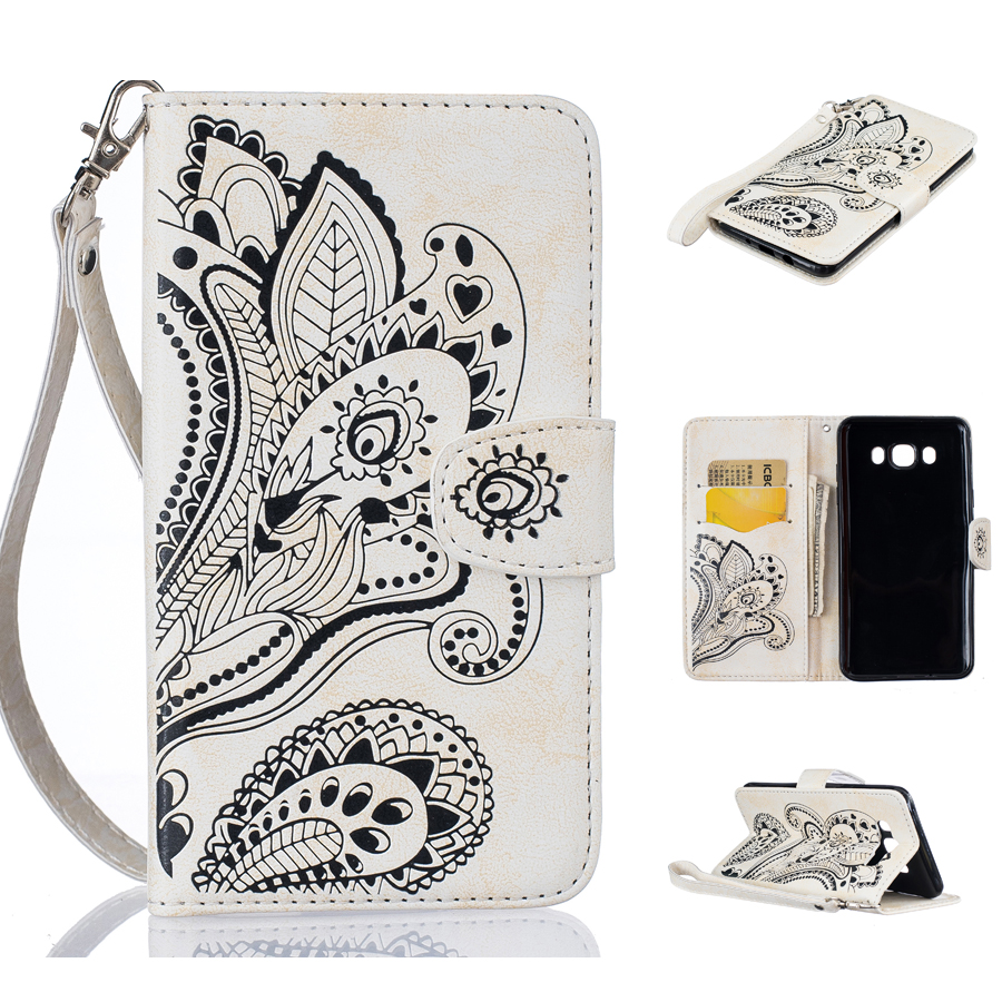 Pu leather case for samsung galaxy a7 2016 a710 peacock feather - Sale Luxury Peacock Pattern 6 Color Wallet Pu Leather Phone Case For Samsung Galaxy J7 2016 J710 J710f Wallet Card Slots Cover