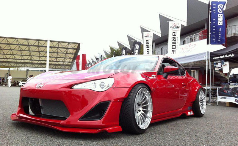 GT86 FT86 ZN6 FRS BRZ ZC6 Greddy X Rocket Bunny Ver.1 Style Front Fender Cover FRP (12)