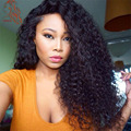 Kinky Curly Human Hair Wigs For Black Women 180 Denisty Virgin Brazilian Human Hair Full Lace Wigs Thicker Lace Front Wig