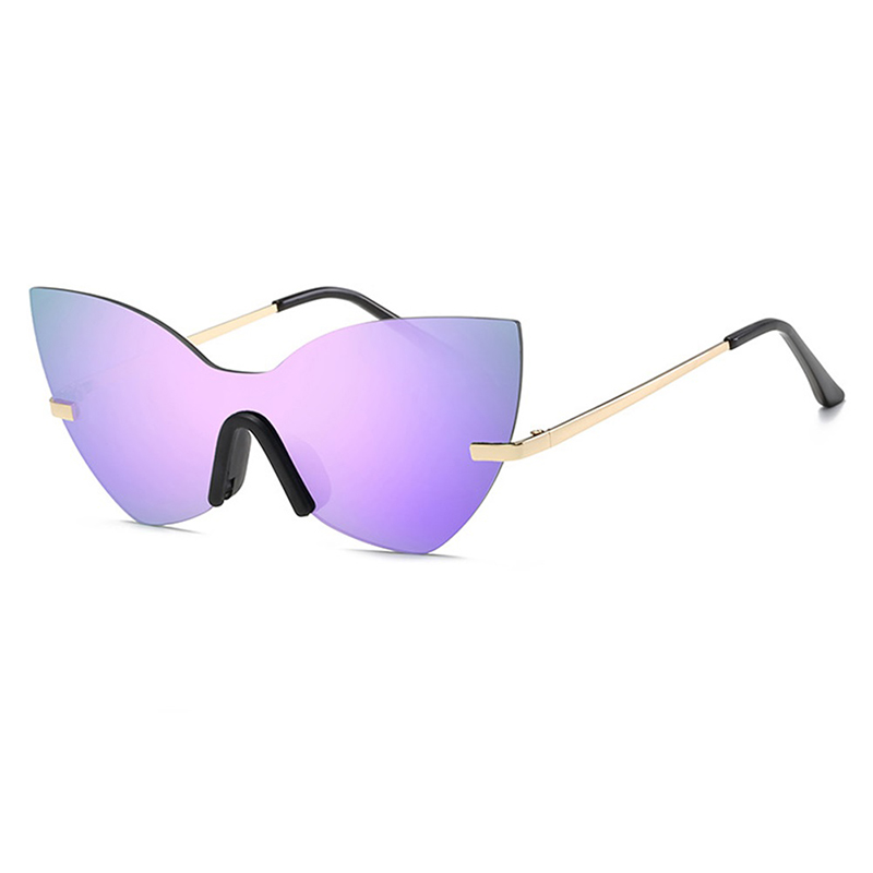 Rimless Butterfly Sunglasses For Women Men Oversized Big Frame Sun Glasses Female Male Hot Ray 2017