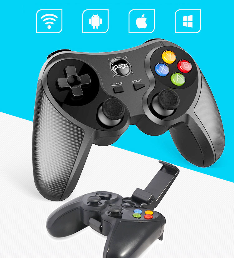 iPEGA PG-9078 Wireless Bluetooth Gamepad Joystick Controller with phone holder for Android, iOS System, Laptop, PC, TV Box ipega pg 9025 pg 9025 wireless bluetooth gamepad game controller joystick for phone iphone ipad projector tv box android phone