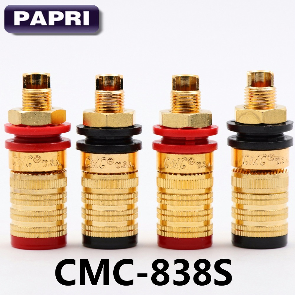 2PAIRS CMC 838S OFC Amplifier Output Terminal Sockets Gold