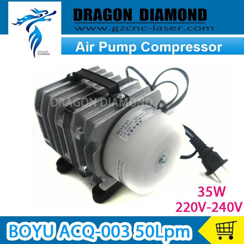 factory price BOYU ACQ-003 50Lpm Air pump compressor AC 220-240V for Laser Machinefactory price BOYU ACQ-003 50Lpm Air pump compressor AC 220-240V for Laser Machine