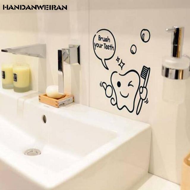 2018 nuovo bagno impermeabile wall stickers cartoon mini bagno ...