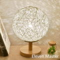 Muti-color E27 AC 110V/220V Table Lamp For Living Room Bedroom Woven ball Shade Desk Lamp Diameter 20cm With Switch WTL027