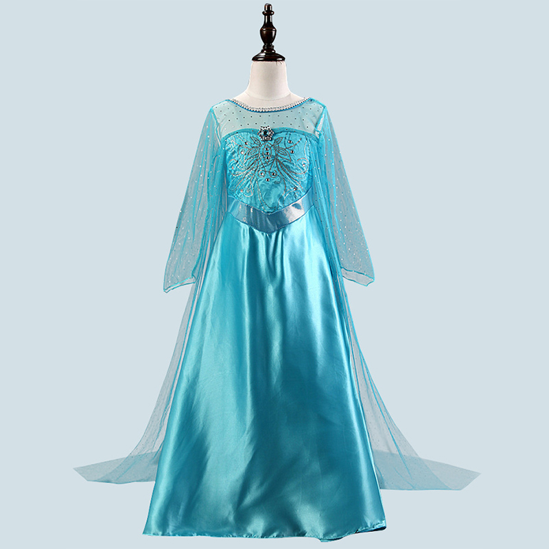 HTB1ENZ2Xfb2gK0jSZK9q6yEgFXaG Girls Dress Christmas Anna Elsa Cosplay Costume Dresses Girl Princess Elsa Dress for Birthday Party Children Kids Clothing