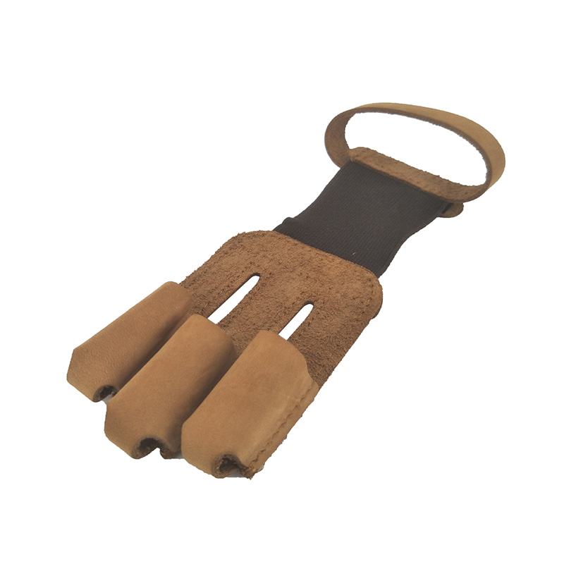 Cow Leather Archery Hunting Shooting Finger Guard Archery Sports Bow Leather Finger Tip Protector Safe Gloves Tool