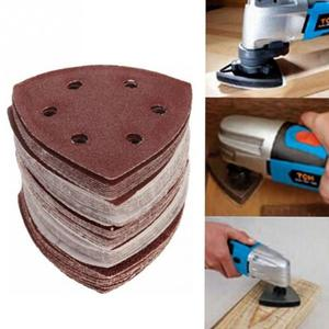 Image 2 - 50pcs/bag  90mm Aluminum oxide Mix Sanding Sheet 40 60 80 120 180 Grit Sandpaper Sanding Paper Grinding Kit