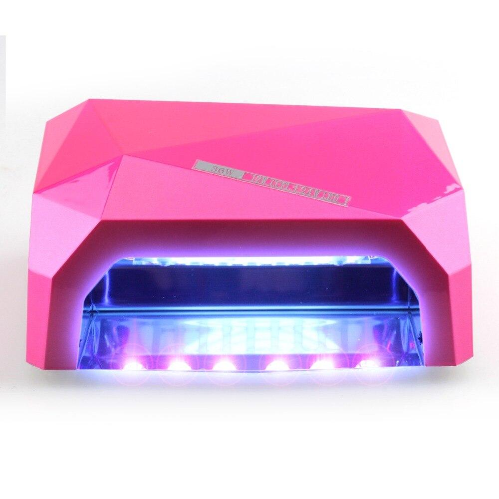 High Quality 36w LED Nail Dryer Diamond Curing Nail Art Lamp LED Nail Gel Polish Dryer 9 Colors For choose perfect summer 36w nail gel leduv lamp nail dryer nail art dryer tools for curing gel polish nail art lamp different plug choose