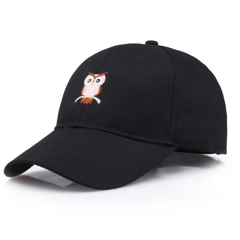 Embroidery Owl Animal Baseball Cap Men Women Summer Casual Snapback Dad Hat Sun Protection