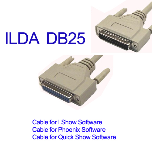 DIY Newest  Professional DJ CLUB LIGHTING DB25 ILDA MALE FEMALE CABLE FOR PANGOLIN QUICKSHOW