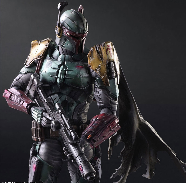 Play Arts Kai Boba Fett Star War Imperial Stormtrooper Darth Vader Bounty Hunter 27cm PVC Action Figure Doll Toys Kids Gift
