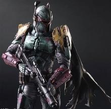 Play Arts Kai Boba Fett Star War Imperial Stormtrooper Darth Vader Bounty Hunter 27cm PVC Action Figure Doll Toys Kids Gift