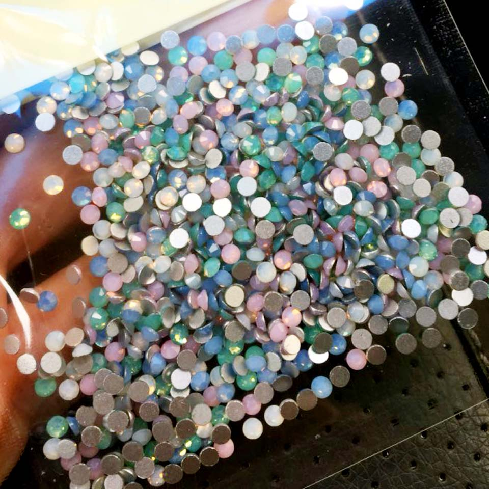 Crystals of Opal Rhinestones for Nail Glass Gems Mix Rhinestones on Nails Opal 3D Nail Art Strass Ongle Decorations MJZ1025 ab rhinestones for nails glass mix size clear strass nail art decorations 3d nail rhinestones on nails art manicure mjz00280