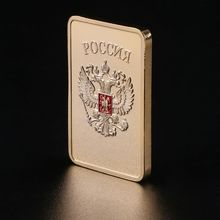 лучшая цена Free shipping 2PCS/Lot RARE 1 OZ. SOVIET RUSSIAN USSR CCCP PURE .999 24K GOLD LAYERED INGOT BULLION BAR, collection coins